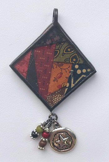 """1 1/4"""" Crazy Block Pendant with Bling"""