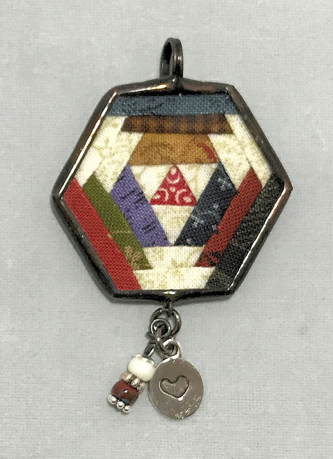 Hexagon Pendant with Bling