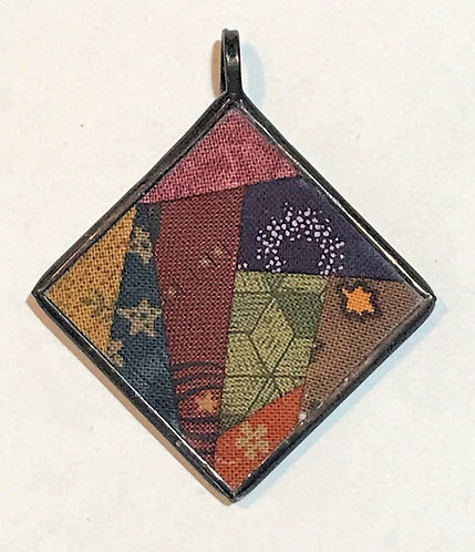 "1 1/4"" Crazy Block Pendant"