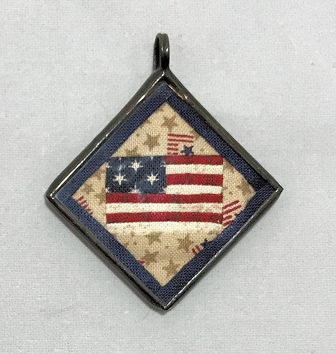 """1 1/4"""" U.S. Flag Pendant"""
