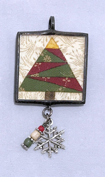 "1 1/4"" Tree Pendant with Bling"