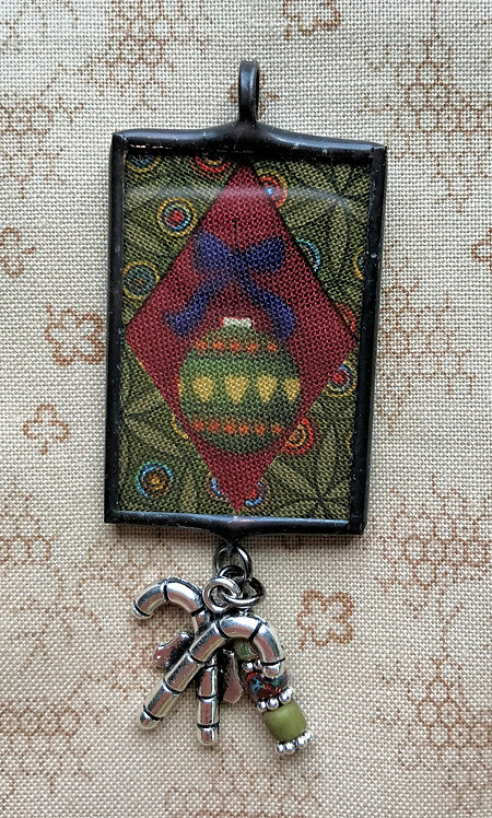 """1"""" x 1 1/2"""" Holiday Pendant with Bling"""