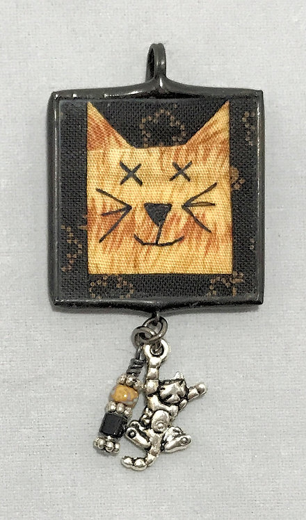 """1 1/4"""" Cat Pendant with Bling"""