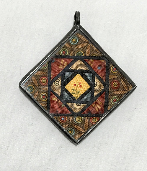 """1 1/2"""" Stained Glass Block Pendant"""