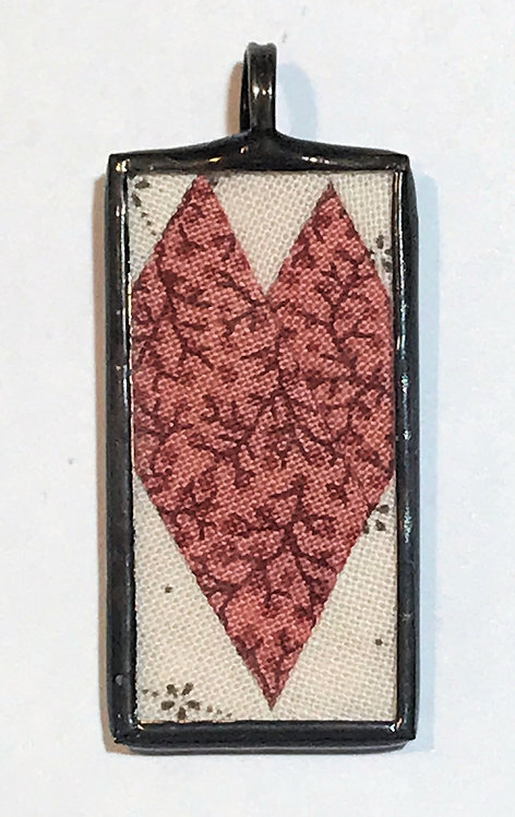 "3/4"" x 1 1/2"" Heart Pendant"