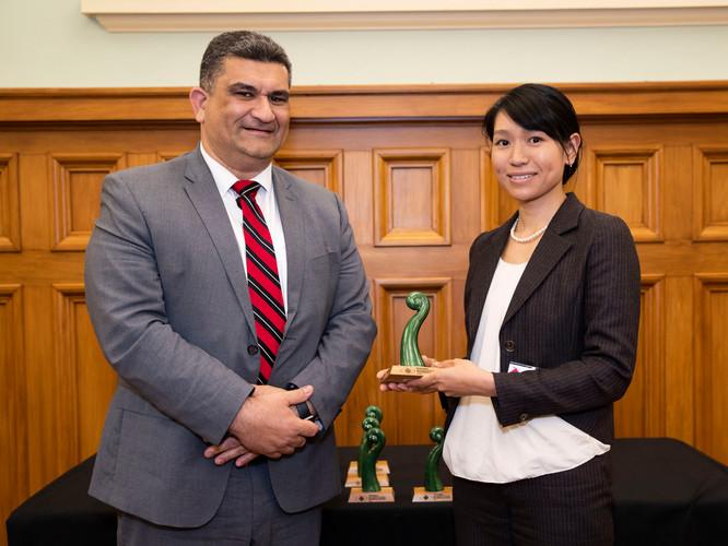 Congratulations to Yukiko Kuboshima (supervised by Jacquie McIntosh). She was awarded a Wellington International Student Excellence Award.