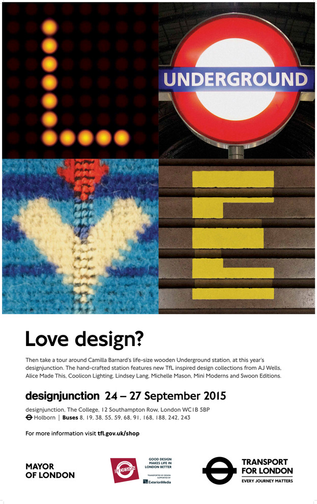 Poster Advertising New Design Collections Launching at Designjunction