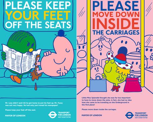 Mr Men Improve Travel Behaviours Campaign Posters