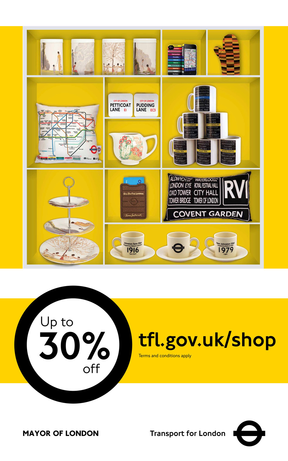 Poster Advertising TfL Online Shop
