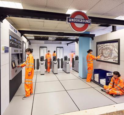 The Wooden Underground Station by Camilla Barnard