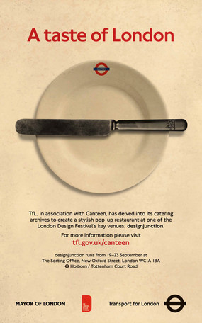 London Transport Canteen Poster