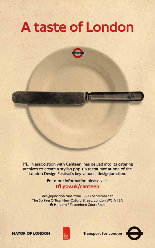 London Transport Canteen Poster Design