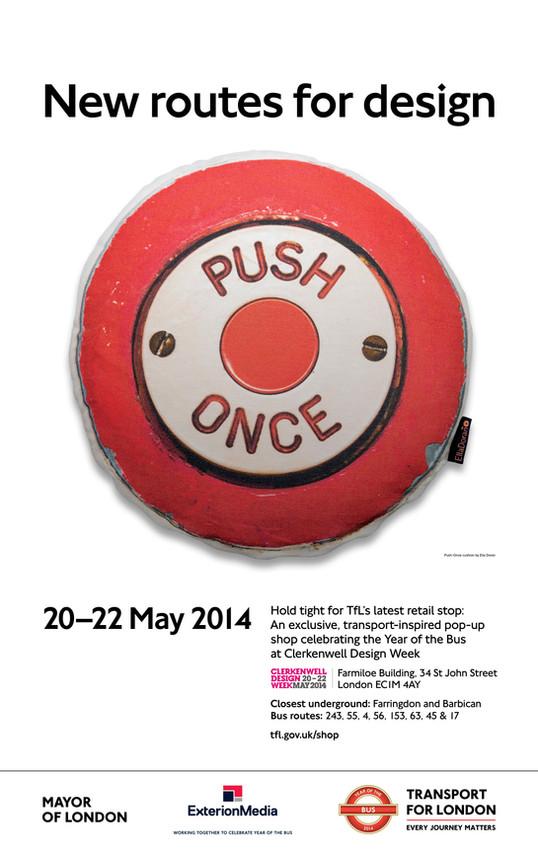 Poster Advertising London Transport Museum Shop Pop-Up Shop