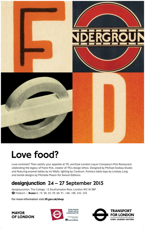 Pick Restaurant at Designjunction Poster