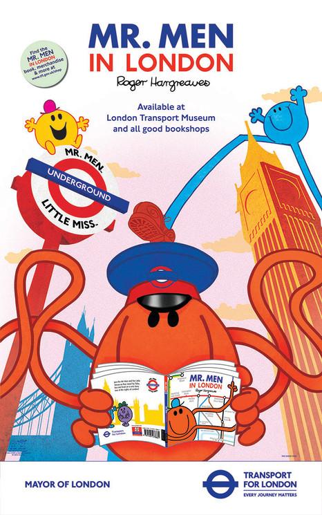 Mr Men in London Poster