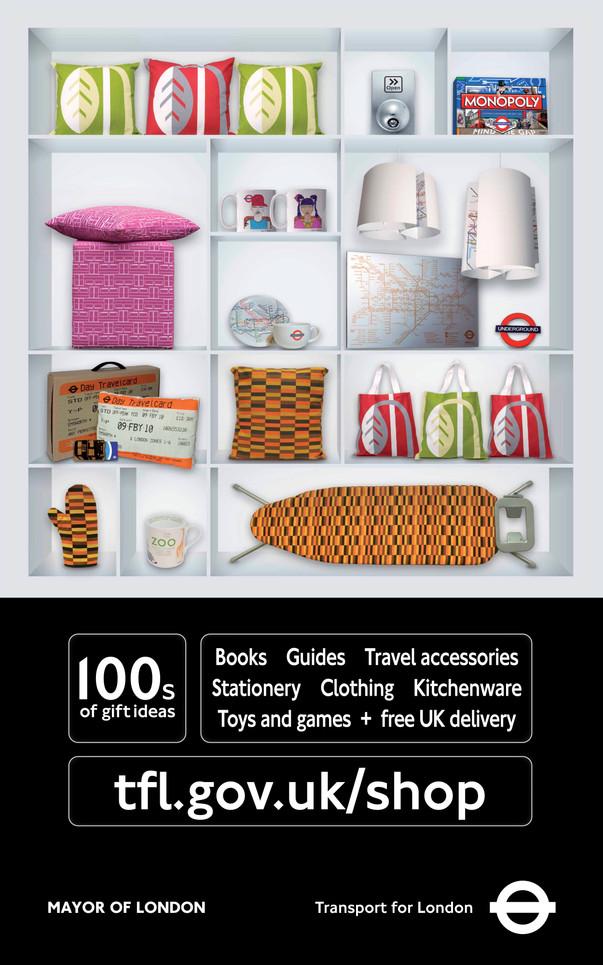 Poster Advertising TfL Online Shop