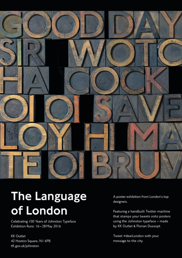 KK Outlet Poster for the Language of London Exhibition