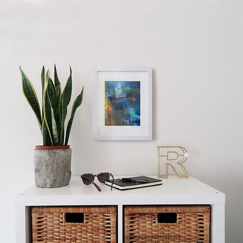 Monet Inspired Water Lillies print (8x10 print 11x14 frame)