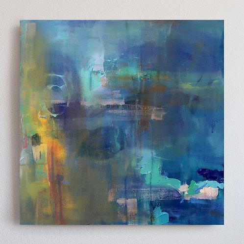 Monet Inspired Water Lillies (20X20)