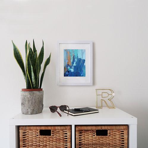 Cascading Blue print (8x10 print 11x14 frame)