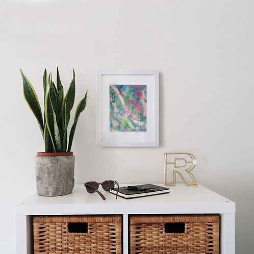 Spring print (8x10 print 11x40 frame)