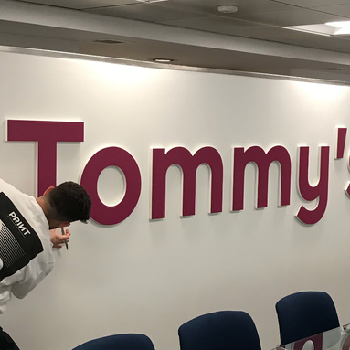 19mm Lettering With Digitally Printed Vinyl