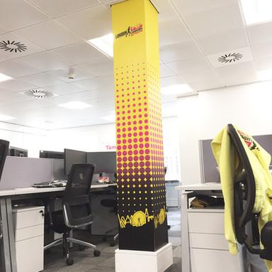 Office Pillar Branding