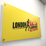 Wall Sign with Printed Vinyl