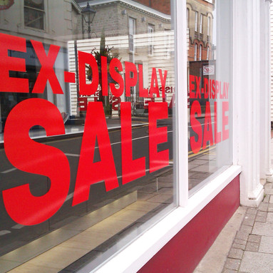 Sale Window Vinyl Lettering