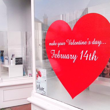 Valentines Day Window Stickers