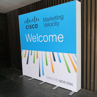 Step and Repeat Welcome Sign