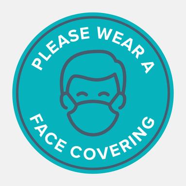 Covid-19 Please Wear a Mask Sticker