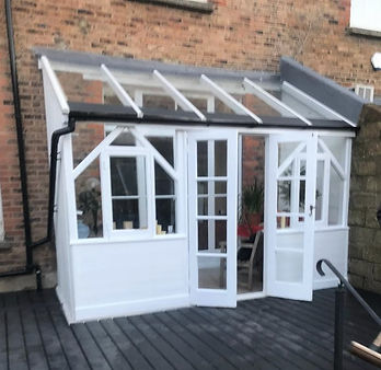 Conservatory repaired and painted to finished state in Bexhill