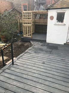Finished decking in Bexhill