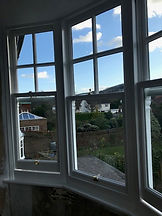 side view of sash windows in Brighton