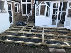 Decking frame Hastings