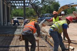 Pouring Concrete at Galleria Plaza
