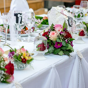 Table linens available for rent for a Signature Events FL event