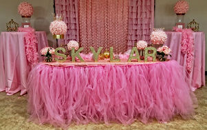 Custom backdrop available for baby shower for a Signature Events FL even