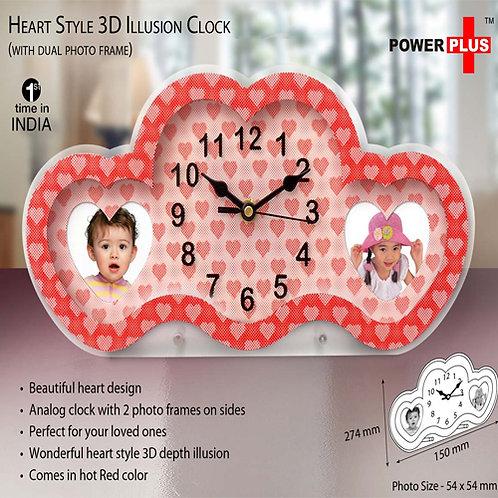 Heart Style 3D Clock Frame