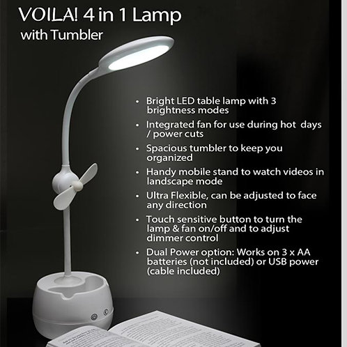 4 in 1 Tumbler with LED Lamp