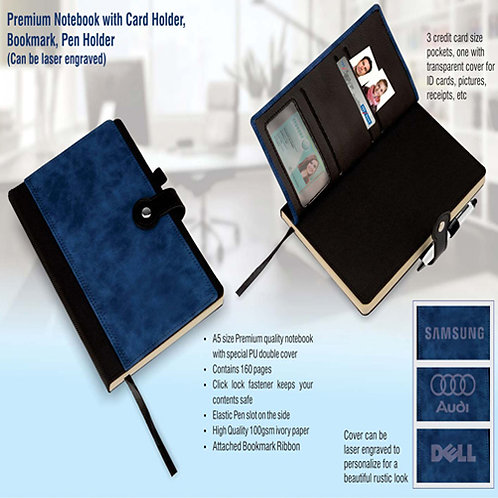 A5 Notebook with Card Holder