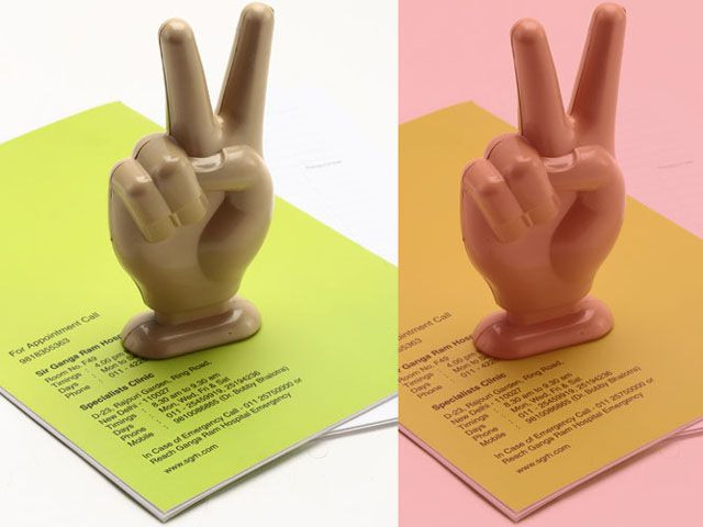Victory Sign Paper Weight