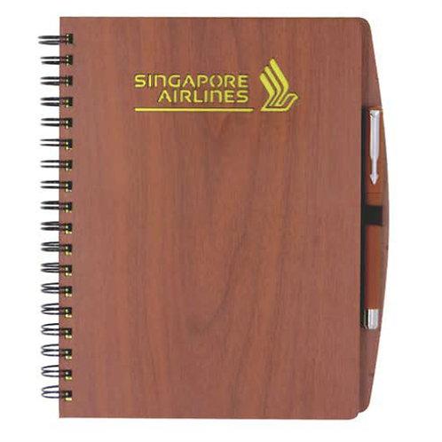B5 Wooden Notebook