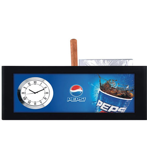 Table Clock with Pen & Pad Holder