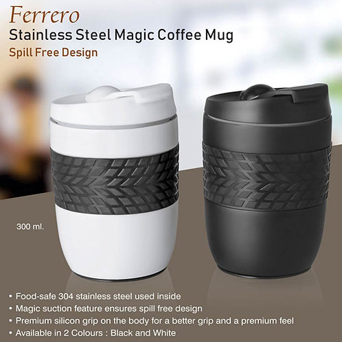 Lustre Stainless Steel Double Wall Mug (425 ml approx)