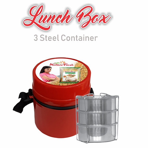 Lunch Box - 3 (Red)