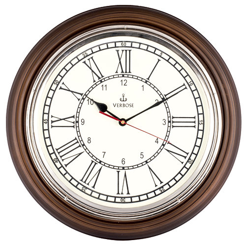 Antique Clock Chrome 16''