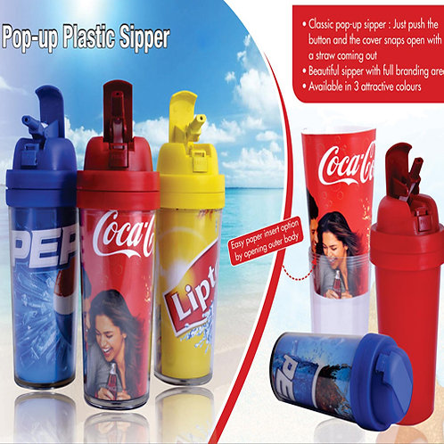 Pop-up Plastic Sipper