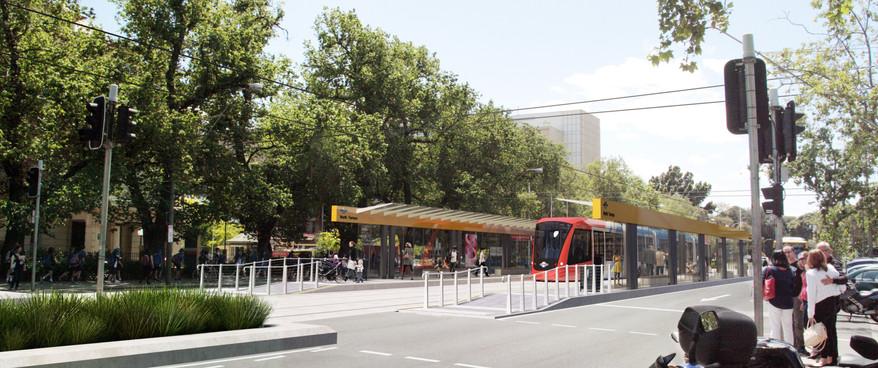 North Terrace Trams